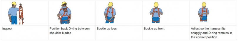 PFAS use full body harness